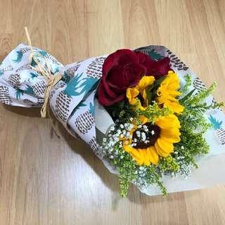 Sunflower rose Flower Bouquet