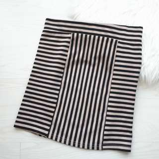 Minkpink stripes mini skirt / rok pendek span pencil