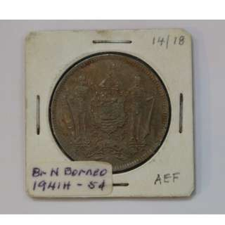 BR. N. Borneo 1941H 5 Cent Coin (AEF)