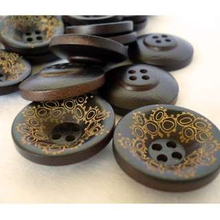 WB10073 - 18mm Japanese bowl design wood buttons, wooden buttons (10 pieces) #craft