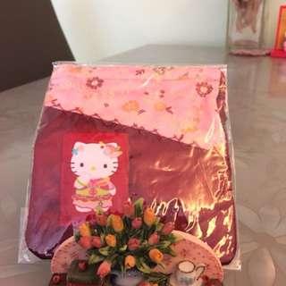 Hello Kitty 織錦繩索袋