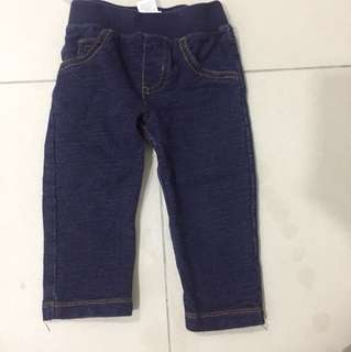 Carter's pull up soft denim long pants 12 mths