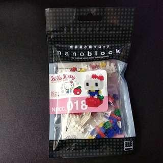 全新正版 Nanoblock Hello Kitty Apple NBCC_018 世界最小積木 河田積木