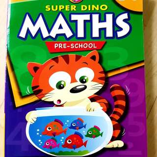 Maths Workbook for Pre-school 3-6 yrs old