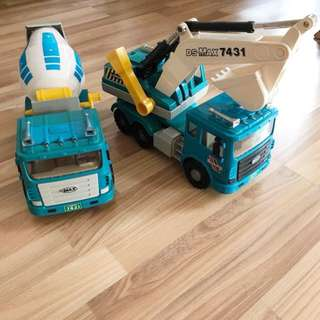 Daesung Toy Construction Vehicles Trucks x2