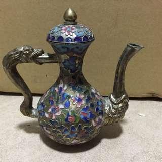 法藍瓷春壺