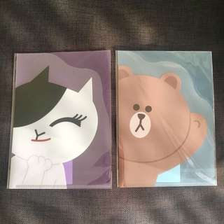 Line Friends A5 Folders *With Free Gift*