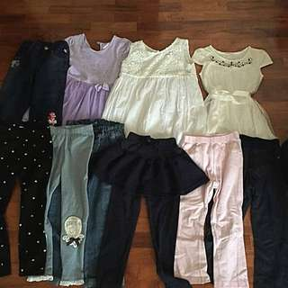 Pre loved girl clothes suitable for 4 yo