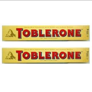 2pcs Toblerone Milk Chocolate Bars