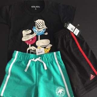 Brand new Tee & shorts