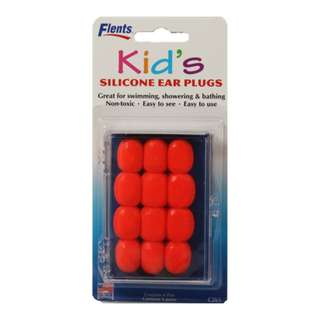KID'S SILICONE EAR PLUGS (6 PAIRS)