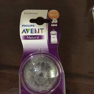 Phillips Avent Natural Teats 6m+