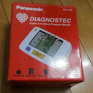 Panasonic Diagnostec Upper Arm Blood Pressure Monitor EW3106 血壓計