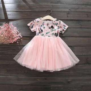 Children dress with lace