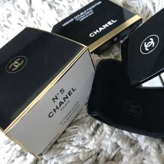 Chanel moisturizer and compact mirror