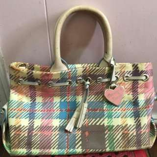 REPRICED: Preloved Dooney & Bourke Chequered Handbag