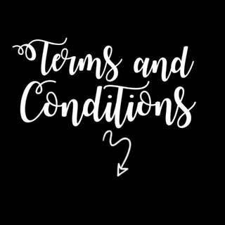 TERMS AND CONDITION!