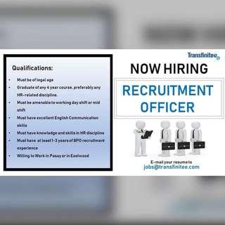 RECRUITMENT OFFICERS NEEDSD!