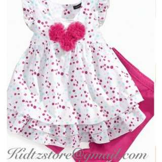 CK Jeans Baby Girls Polka-Dot Dress and Leggings