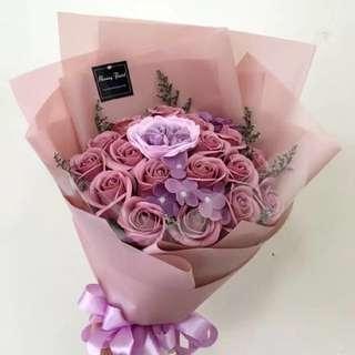 Pink soap rose bouquet💗