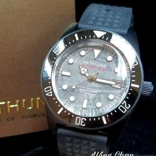 NETHUNS 外太空殞石錶面 SCUBAPRO SPS 黑鋼殼 陶瓷夜光外圈 夜光字 42mm 精工NH35 自動