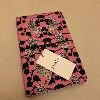 Furla note book 筆記簿 花 粉紅 新年 禮物