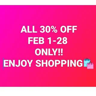 All items 30% OFF