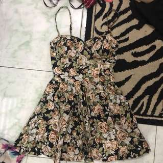 REPRICED!! Floral bustier Mini dress