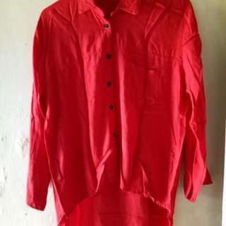 Blouse pinguin red