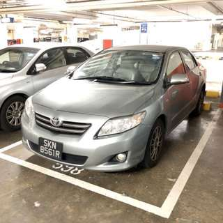 CNY CAR RENTAL - Toyota Altis 1.6A 14th to 21st Feb 2018