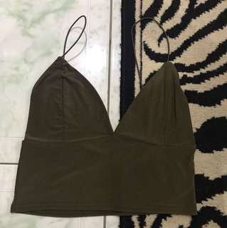 """Repriced!! """"Missguided"""" triangle crop top"""