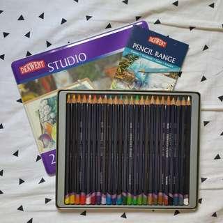 DERWENT STUDIO COLOUR PENCILS 24 pencils