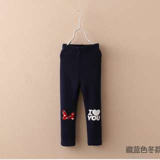 Minnie Mouse Bow Girls Leggings