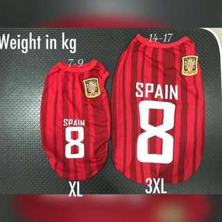 Dogs Jersey - small to big dogs (Spain)