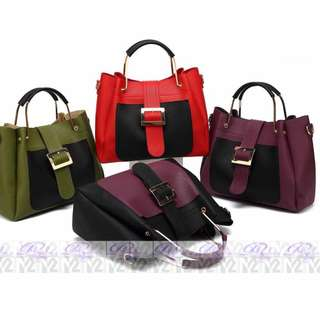 PhoebesXM2 2 in 1 Big space Handbag with sling bag MHR-5685