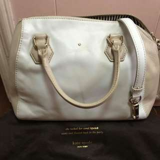 Preloved Kate Spade White Beige Shoulder Bag