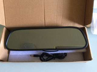 2 Video inputs 5 inch Rear view mirror for reversing camera and side view camera display