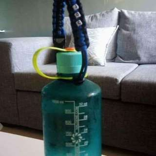 Water bottle strap with name beads