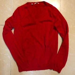 new uniqlo v neck sweater