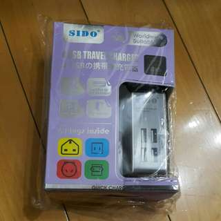 SIDO Worldwide Suitable 4 usb 攜帶用具充電充電器