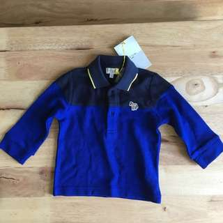 BNWT Paul Smith Junior polo long sleeved top, 12 month