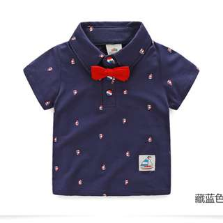 Kids Boys Shirt with Bow