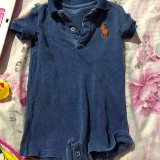 Ralph lauren baby boy romper tops shirt