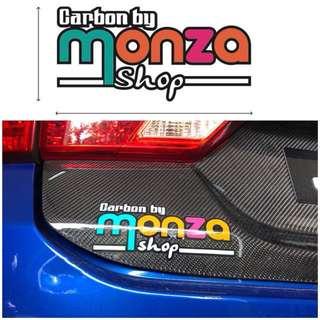 Monza shop sticker