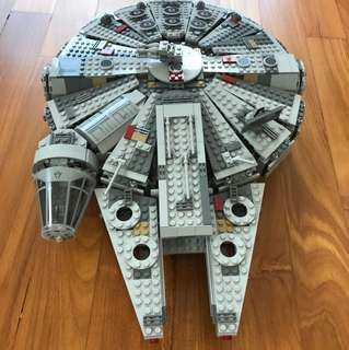 Completed Lego Star Wars Millennium Falcon