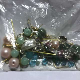 Assorted beads for earrings