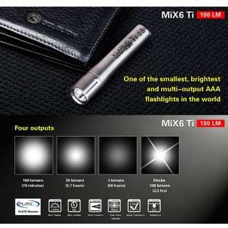 Klarus MiX6 Titanium LED EDC Flashlight