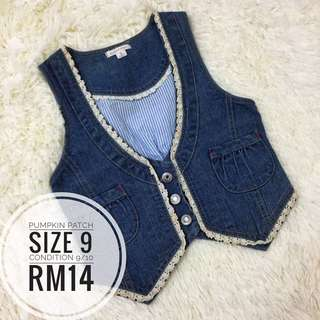 Denim Vest 9yrs #Bajet20