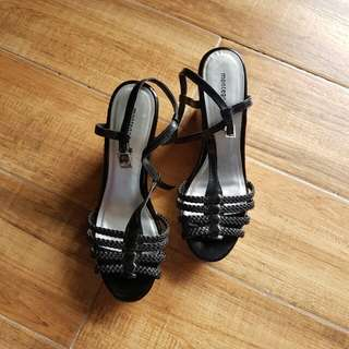 Montego Bay Club Black Patent Wedge Size 7.5 womens