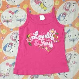 Girl pink Singlet 3T